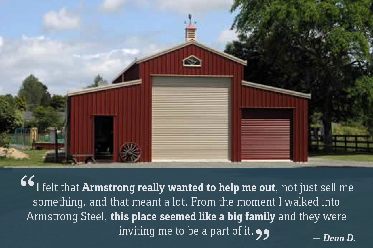 Armstrong steel price your steel building online in minutes for Metal barn images