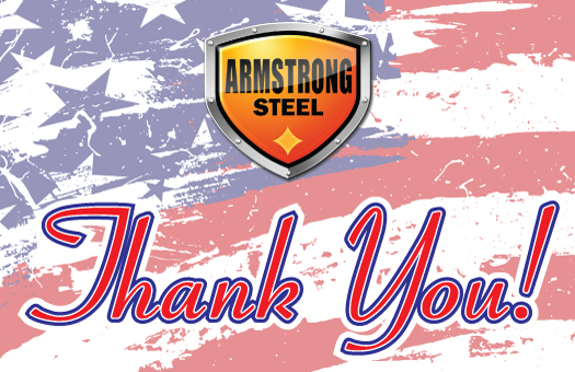 Thank you from all of us at Armstrong Steel